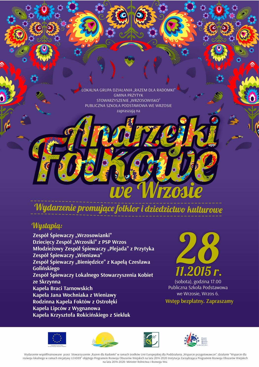 Zapraszamy na Andrzejki Folkowe do Wrzosu.